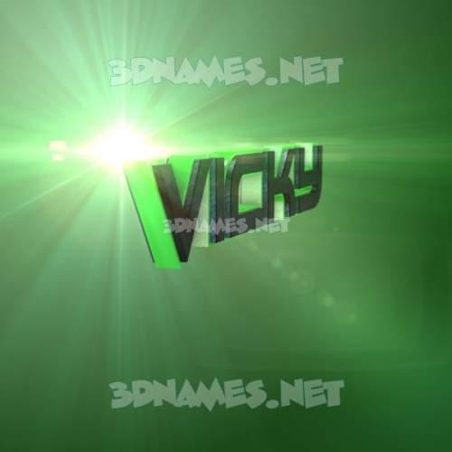 Green Light 3D Name for vicky