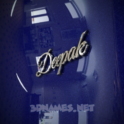 Metalic Blue 3D Name for deepak