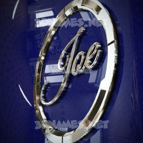 Metalic Blue 3D Name for joe