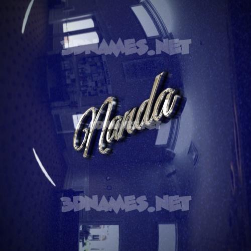 Metalic Blue 3D Name for nanda