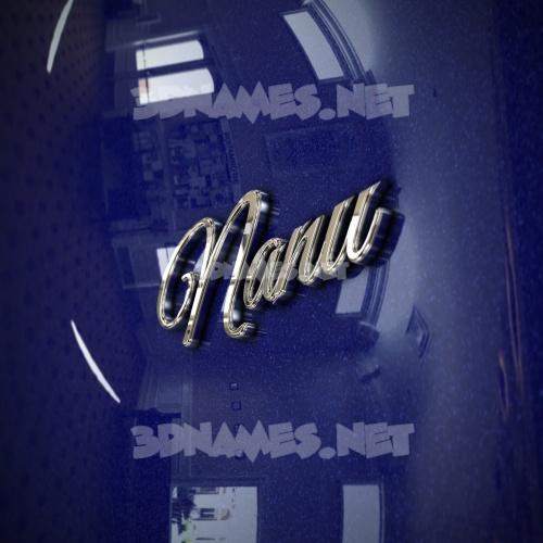 Metalic Blue 3D Name for nanu
