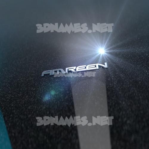 Black Metalic 3D Name for amreen