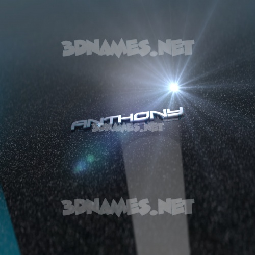 Black Metalic 3D Name for anthony