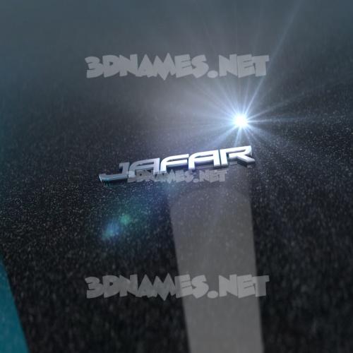 Black Metalic 3D Name for jafar