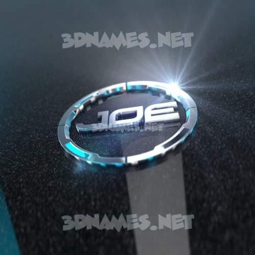 Black Metalic 3D Name for joe