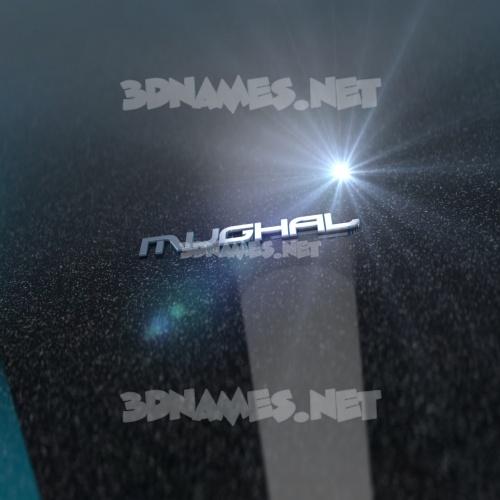 Black Metalic 3D Name for mughal