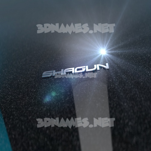 Black Metalic 3D Name for shagun