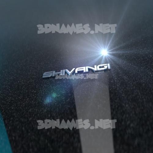 Black Metalic 3D Name for shivangi