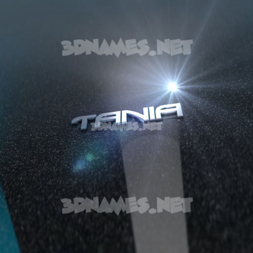 Black Metalic 3D Name for tania