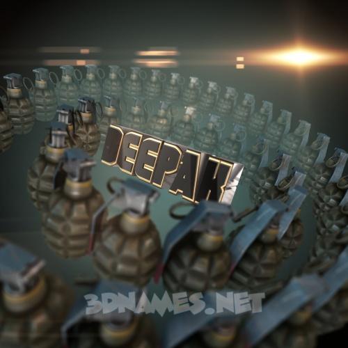 Grenades 3D Name for deepak