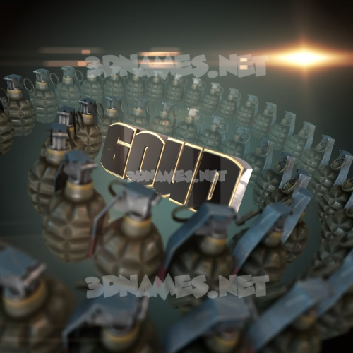 Grenades 3D Name for goud