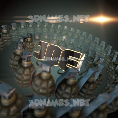 Grenades 3D Name for joe