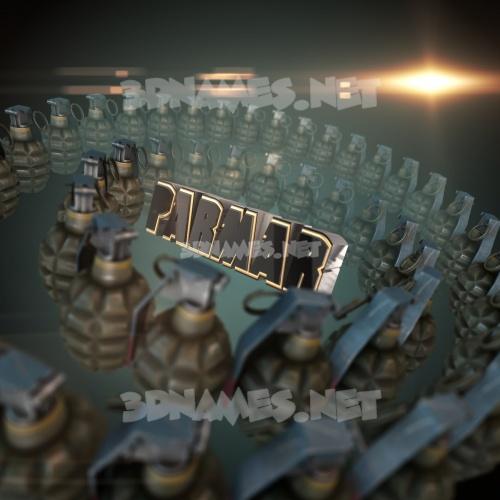 Grenades 3D Name for parmar