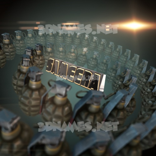 Grenades 3D Name for sameera
