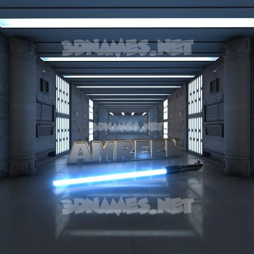 Light Saber 3D Name for amreen