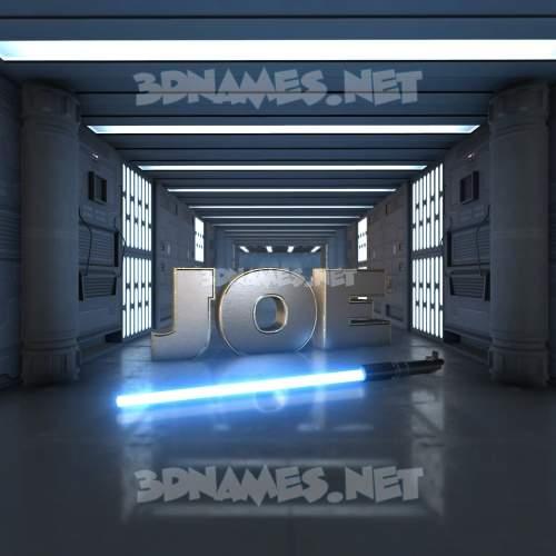 Light Saber 3D Name for joe