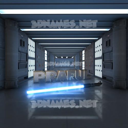 Light Saber 3D Name for praful