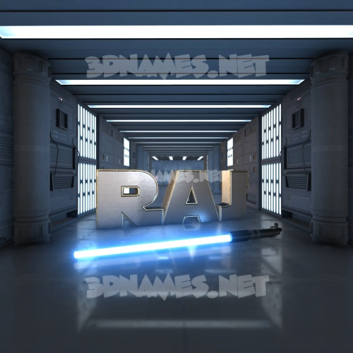 Light Saber 3D Name for raj