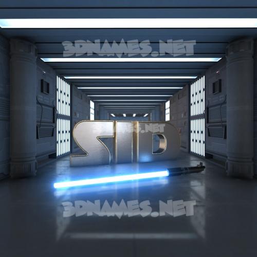 Light Saber 3D Name for sid