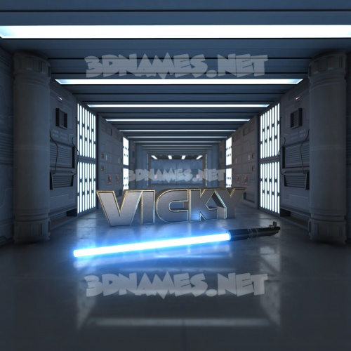 Light Saber 3D Name for vicky