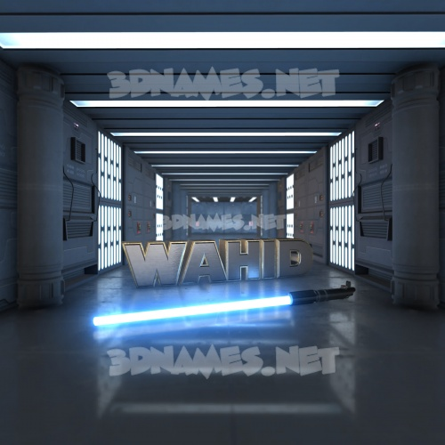 Light Saber 3D Name for wahid