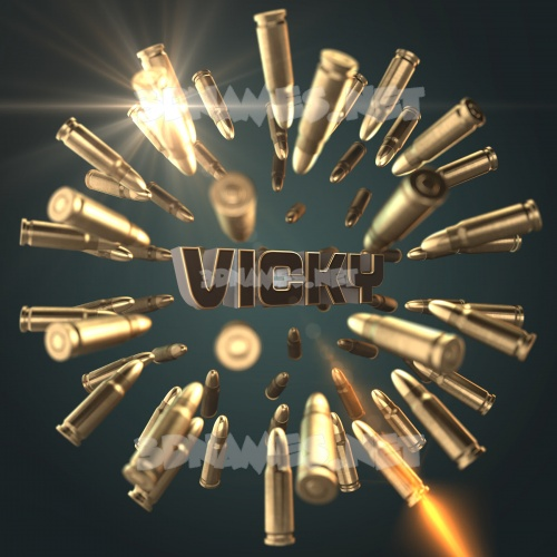 Bullet Time 3D Name for vicky