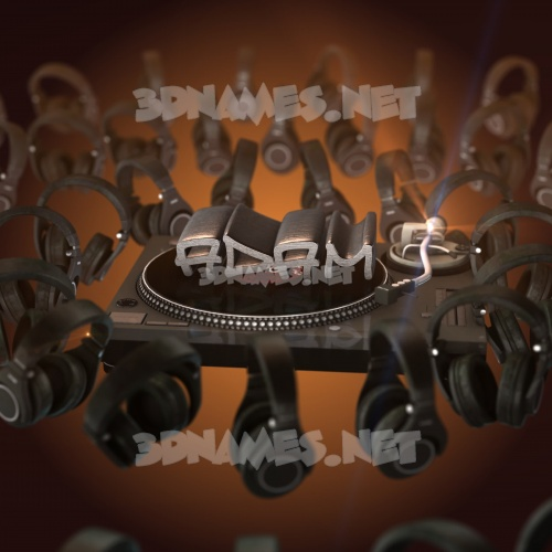 DJ Yourself 3D Name for adam