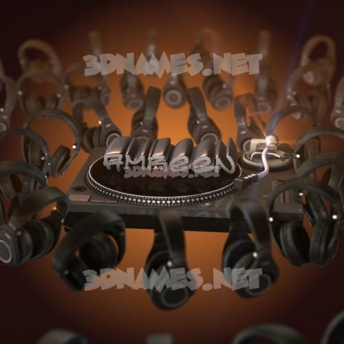 DJ Yourself 3D Name for amreen