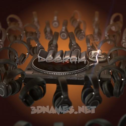 DJ Yourself 3D Name for deepak