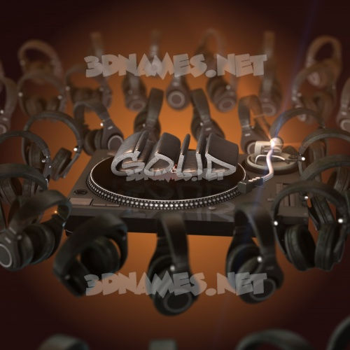 DJ Yourself 3D Name for goud