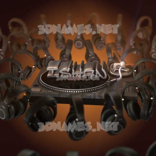 DJ Yourself 3D Name for ishan