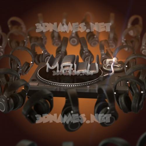 DJ Yourself 3D Name for malu
