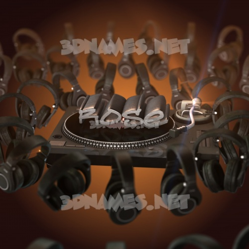 DJ Yourself 3D Name for rose