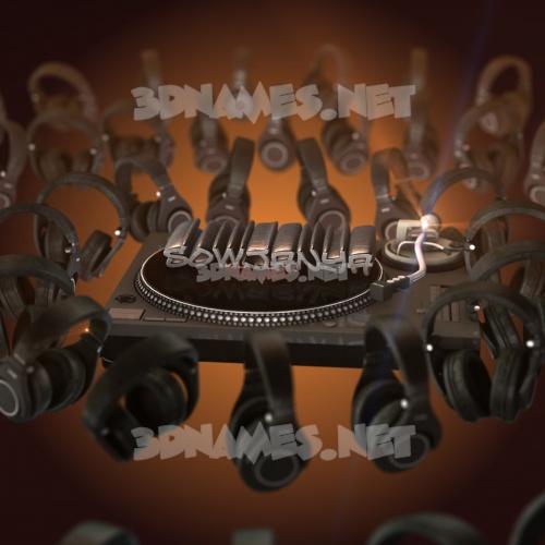 DJ Yourself 3D Name for sowjanya