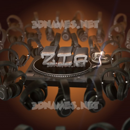 DJ Yourself 3D Name for zia