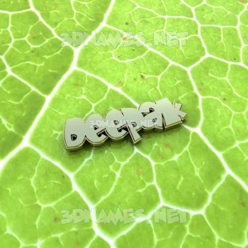 Gold Leaf 3D Name for deepak