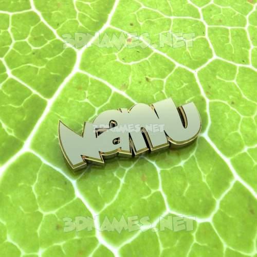 Gold Leaf 3D Name for nanu