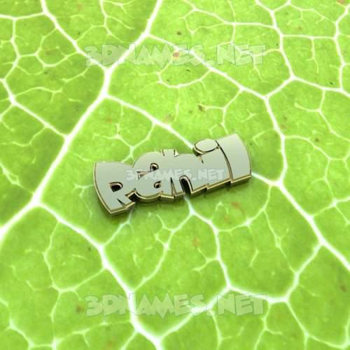 Gold Leaf 3D Name for rahil