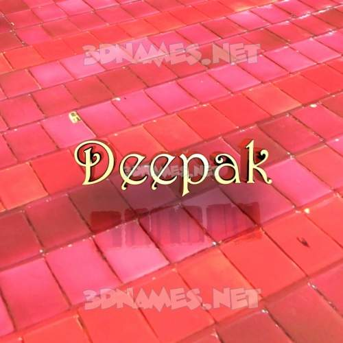 Red Tiles 3D Name for deepak