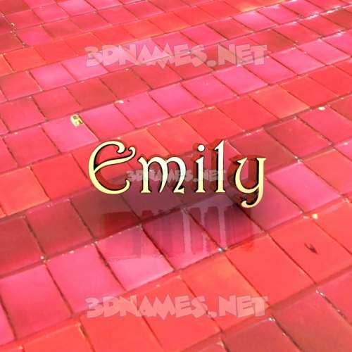 Red Tiles 3D Name for emily