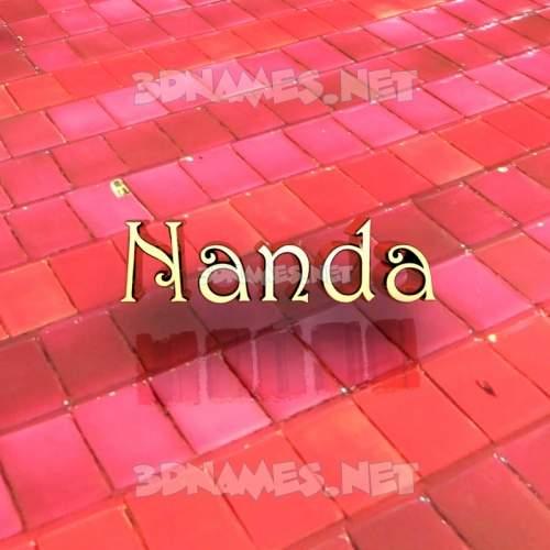 Red Tiles 3D Name for nanda