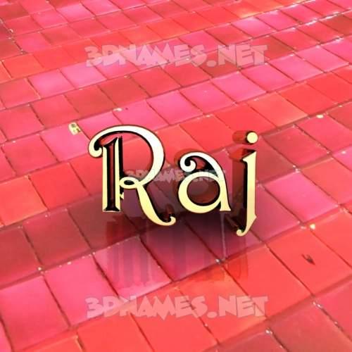 Red Tiles 3D Name for raj