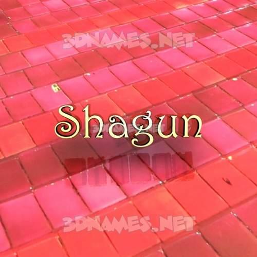 Red Tiles 3D Name for shagun