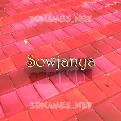 Red Tiles 3D Name for sowjanya