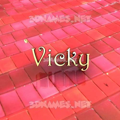 Red Tiles 3D Name for vicky