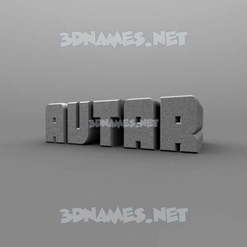 Solid Grey 3D Name for avtar