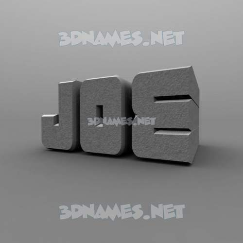 Solid Grey 3D Name for joe