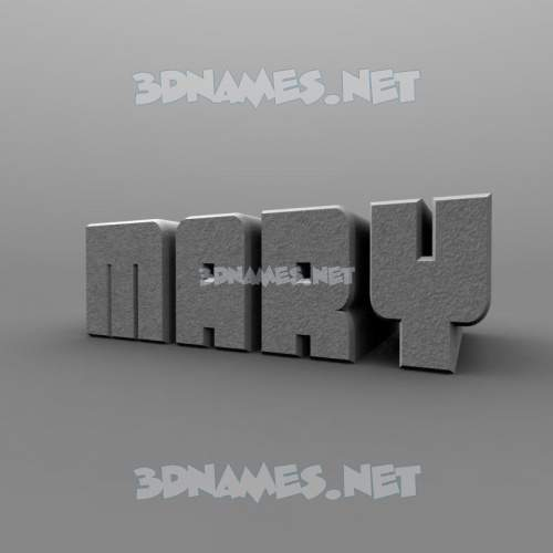 Solid Grey 3D Name for mary