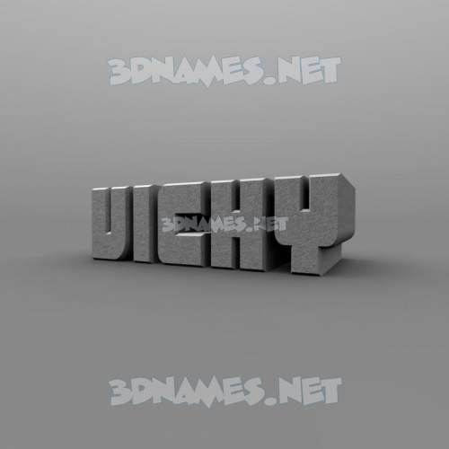 Solid Grey 3D Name for vicky