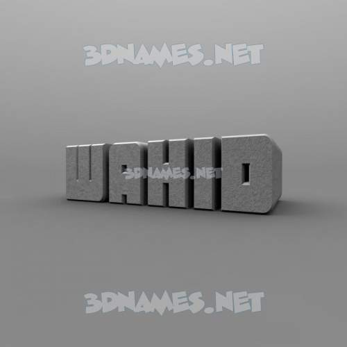 Solid Grey 3D Name for wahid